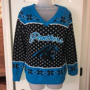 Carolina Panthers Official NFL Ugly Sweater
